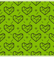 seamless pattern with heart geometry style vector image