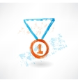 Medal grunge icon vector image