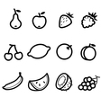 Icons Fruits vector image