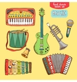 hand drawn musical instrument vector image