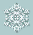 Paper lace doily vector image