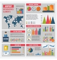Airport Infographics Set vector image