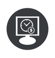 Round time money monitor icon vector image