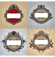 set of abstract royal vintage frames vector image vector image