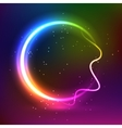 Abstract dark colorful glowing background vector image