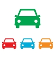 Car sign Colorfull set vector image