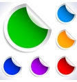 Colorful blank stickers vector image