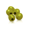 green olives isolated on a white background vector image