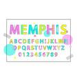 memphis english alphabet vector image