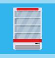 modern commercial fridge vector image