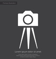 photo camera tripod premium icon white on dark bac vector image