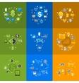 Set of sticker design High-tech business concept vector image