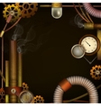 Steam punk background vector image