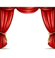 Theater curtain open flat banner vector image
