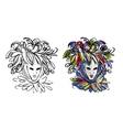 Venetian mask sketch for your design vector image
