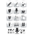 Print set of office icon button armchair vector image