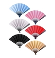 Fans in different colors vector image