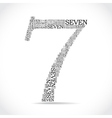 number seven created from text vector image vector image