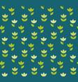 folk atyle holland tulip repeatable motif simple vector image vector image