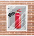 fire extinguisher in wall niche realistic vector image