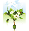 spring background with butterf vector image