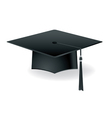 Graduation Mortarboard Isolated on White vector image
