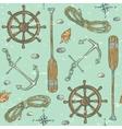 Nautical background Marine pattern vector image