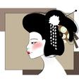 Portrait of geisha vector image