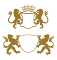 Heraldic Crests Silhouettes vector image