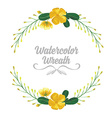 Isolated watercolor tropical flowers and leaves vector image