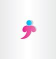 Letter t man logo t icon design symbol vector image