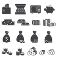 Money Cash and Coin Icons Collection vector image