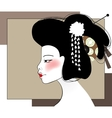 Portrait of geisha vector image