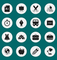 set of 16 editable knowledge icons includes vector image