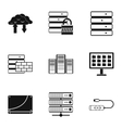 Computer repair icons set simple style vector image