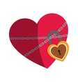 heart with padlock icon vector image