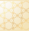 luxury golden floral decoration background vector image