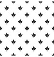 currant tree leaf pattern vector image