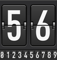 Mechanical Scoreboard Numbers vector image vector image