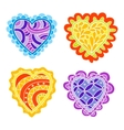 Abstract hand drawn doodle hearts decoration set vector image