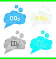 carbon dioxide cloud set vector image