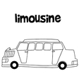 Collection of limousine car hand draw vector image