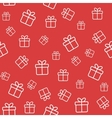 Red seamless pattern with gift boxes vector image