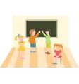 Kids in school vector image