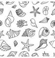 sea shells collection vector image