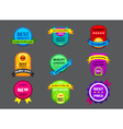 collection of color labels on gray background vector image