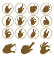 set of hand icons vector image