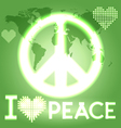 I love peace vector