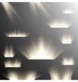 Set of Spotlights EPS 10 vector image