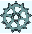 Sprocket wheel vector image vector image